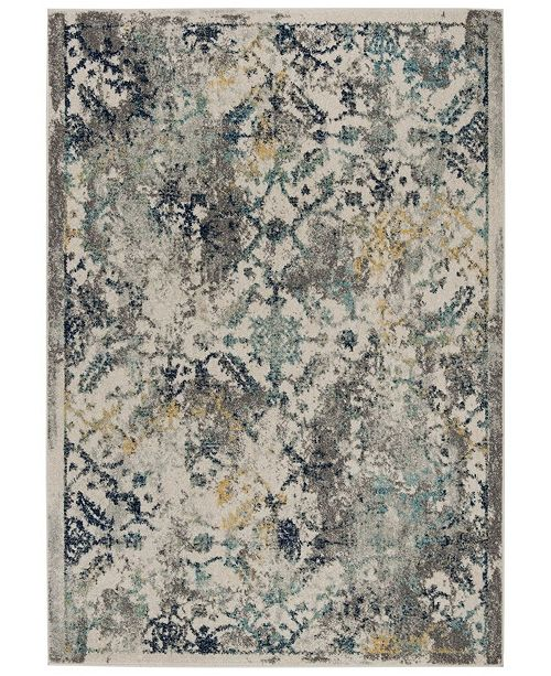 "Safavieh Madison Ivory and Blue 5'3"" x 7'6"" Area Rug"