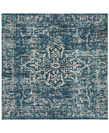 "Safavieh Madison Turquoise and Ivory 6'7"" x 6'7"" Square Area Rug"