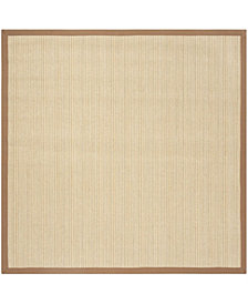 Safavieh Natural Fiber Multi and Light Brown 6' x 6' Sisal Weave Square Area Rug