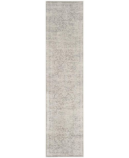 Safavieh Princeton Grey and Beige 2' x 8' Runner Area Rug