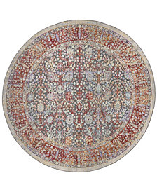 "Safavieh Provance Red and Black 6'7"" x 6'7"" Round Area Rug"