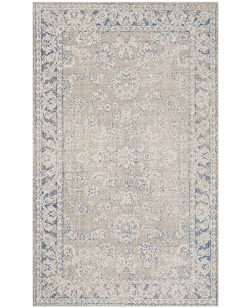 Safavieh Patina Taupe and Blue 3' x 5' Area Rug