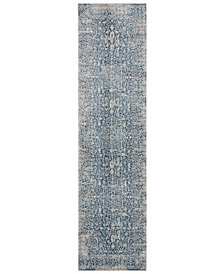"""Safavieh Vintage Persian Blue and Ivory 2'2"""" x 8' Runner Area Rug"""