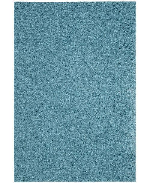 "Safavieh Arizona Shag Aqua 5'1"" x 7'6"" Sisal Weave Area Rug"