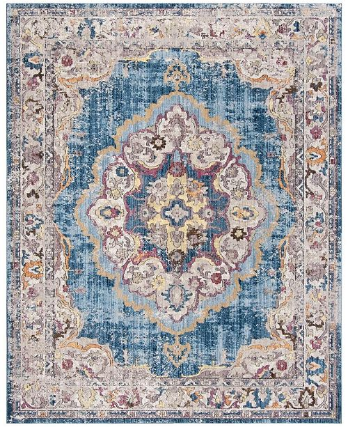 Safavieh Bristol Blue and Light Gray 8' x 10' Area Rug