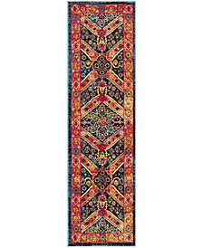 "Safavieh Cherokee Turquoise and Light Orange 2'3"" x 8' Area Rug"