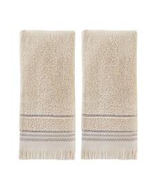 Jude Fringe 2 Piece Hand Towel Set