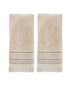 Jude Fringe 2 Piece Hand Towel Set
