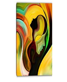 "Designart Way Of Parenting Abstract Canvas Artwork - 16"" X 32"""