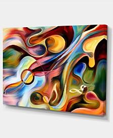 "Designart Music Beyond The Frames Music Canvas Art Print - 32"" X 16"""