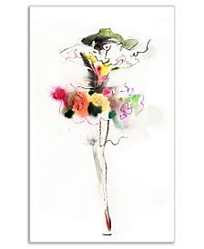 "Designart Beautiful Fashion Girl Portrait Canvas Artwork Print - 30"" X 40"""