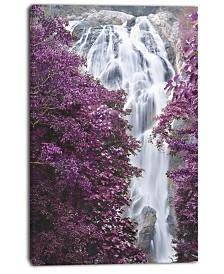 "Designart Klonglan Waterfall Floral Abstract Canvas Artwork - 30"" X 40"""