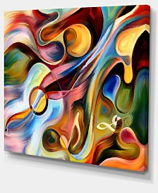 "Designart Music Beyond The Frames Music Canvas Art Print - 20"" X 12"""