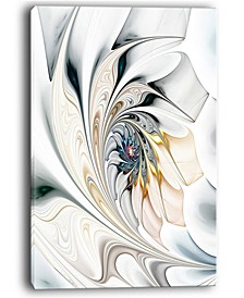 "Designart White Stained Glass Floral Art Large Floral Wall Art Canvas - 30"" X 40"""
