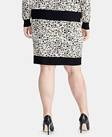 RACHEL Rachel Roy Trendy Plus Size Printed Sweater Skirt