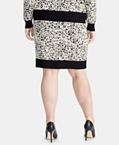 832a682cee RACHEL Rachel Roy Trendy Plus Size Printed Sweater Skirt