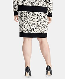 RACHEL Rachel Roy Trendy Plus Size Printed Sweater Skirt