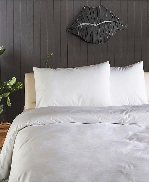 Enchante Home Plain 3 pieces Turkish Cotton Queen Duvet Cover Set
