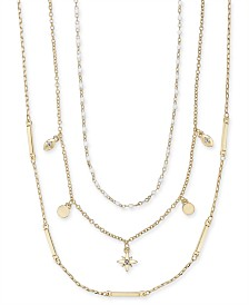 I.N.C. Two-Tone 3-Pc. Set Statement Necklaces, Created for Macy's