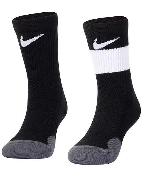 Jordan Nike Little Boys 2-Pack Elite Crew Socks