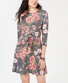 Be Bop Juniors' Printed Tie-Waist Dress
