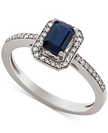 Sapphire (5/8 ct. t.w.) & Diamond (1/5 ct. t.w.) Ring in 14k Gold (Also Available in Certified Ruby & Emerald)
