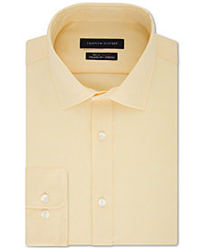 Tommy Hilfiger Men's TH Flex Fitted Non-Iron Stretch Tonal Micro-Stripe Dress Shirt