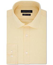 Tommy Hilfiger Men's TH Flex Fitted Non-Iron Stretch Tonal Micro-Stripe Dress Shirt