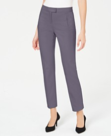 Alfani Tummy-Control Slim-Leg Pants, Created For Macy's