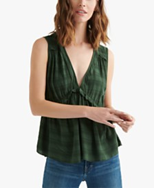 Lucky Brand Sleeveless Ruffle Top