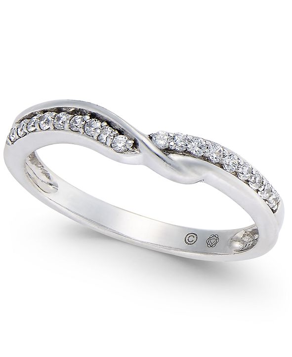 Macy's Diamond Twist Band (1/6 ct. t.w.) in 14k White Gold