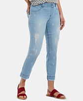 082841ccc48618 HUE® Ripped & Cuffed Ultra-Soft Denim Girlfriend Skimmer Leggings