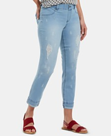 HUE® Ripped & Cuffed Ultra-Soft Denim Girlfriend Skimmer Leggings