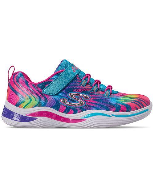 bb37b114026c ... Skechers Little Girls  S Lights  Power Petals - Flowerspark Slip-On  Training Sneakers ...