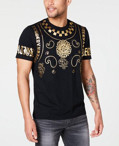I.N.C. Men's Embellished Foil Baroque T-Shirt, Created for Macy's