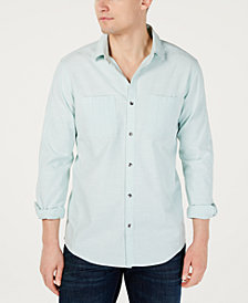 I.N.C. Men's Dual Pocket Chambray Shirt, Created for Macy's
