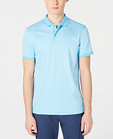 Calvin Klein Men's Big & Tall Liquid Touch Regular-Fit Feeder Stripe Polo Shirt