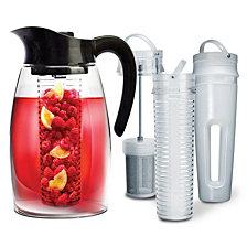 Primula Flavor It 2.9L System Black w/Tea Infuser Fruit Infuser & Ice Core