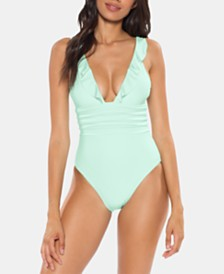 Soluna Under the Sun Pleated Ruffled One-Piece Swimsuit