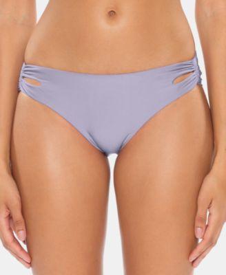 Over the Moon Shirred Full Moon Hipster Bikini Bottoms