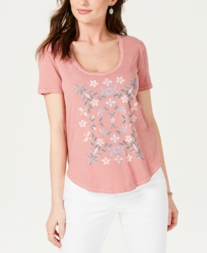 Lucky Brand T-shirts COTTON MOSAIC-GRAPHIC T-SHIRT
