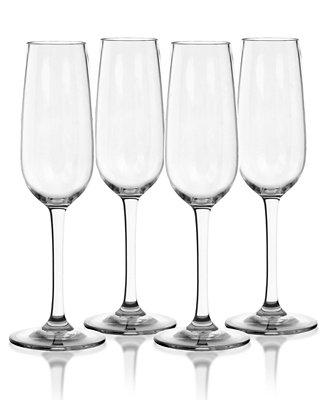 TarHong Cocktail Classic Flute Plastic Glasses, Set of 4