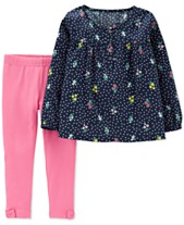b1ef8af11 Carter's Baby Girls 2-Pc. Bouquet-Print Tunic & Leggings Set
