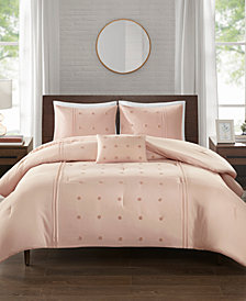 510 Design Natalee King/Cal King 4 Piece Dot Embroidered Comforter Set