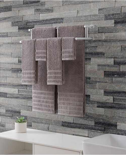 VCNY Home Wide Ribbed 100% Cotton 6-Pc. Towel Set
