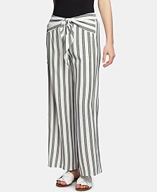 1.STATE Regancy Striped Wide-Leg Pants