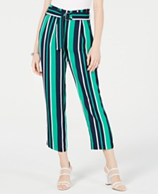 Maison Jules Striped Belted Culottes, Created for Macy's