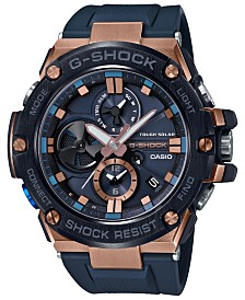 G-Shock Men's Solar G-Steel Connected Navy Resin Strap Watch 53.8mm