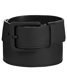 Calvin Klein Jeans Men's Rubberized Leather Belt