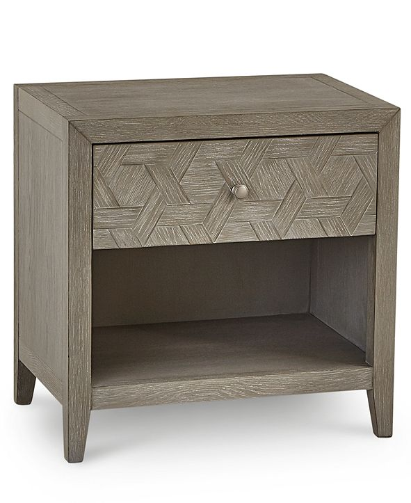 Furniture Parquet USB Outlet Nightstand, Created for Macy's